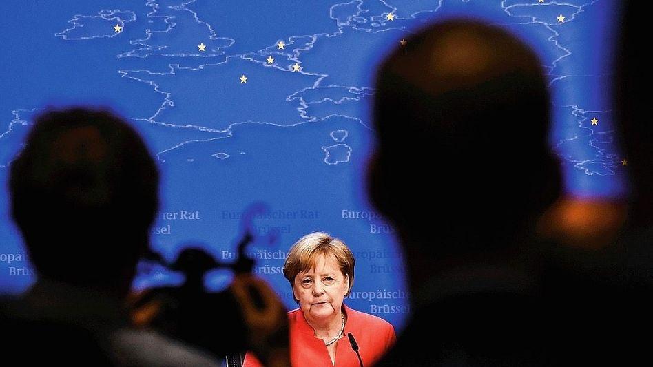 Regierungschefin Merkel beim EU-Gipfel im Juni: Kreative Buchführung