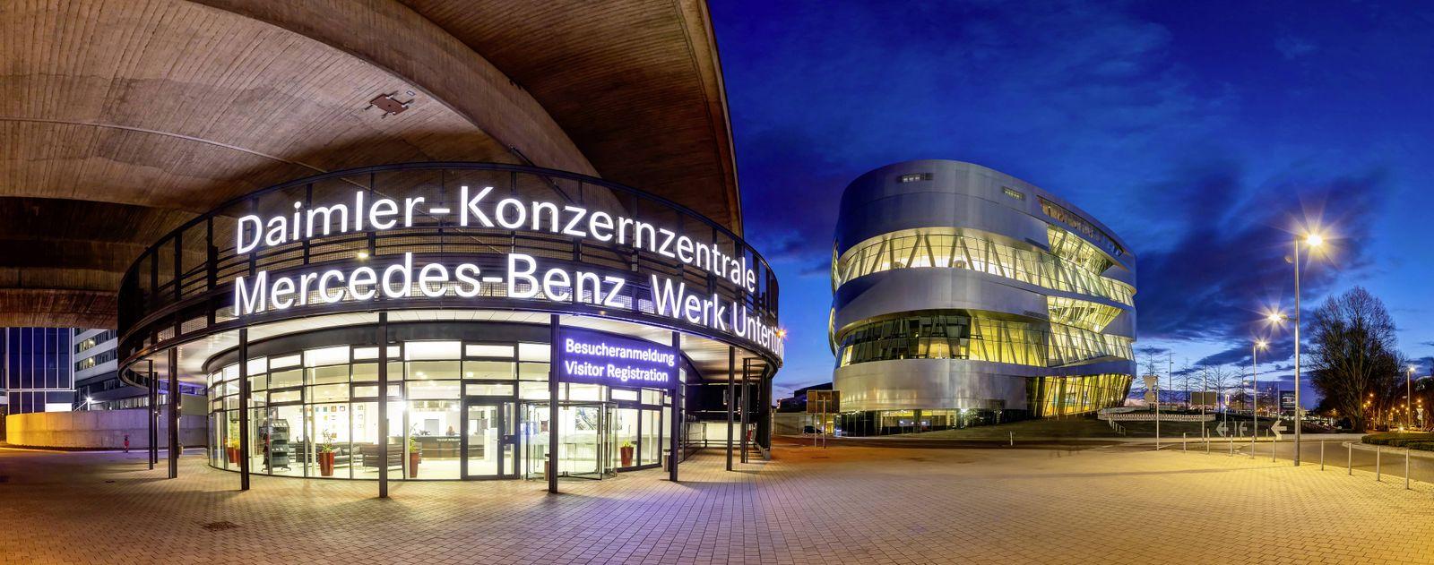 EINMALIGE VERWENDUNG Daimler / Zentrale / Stuttgart