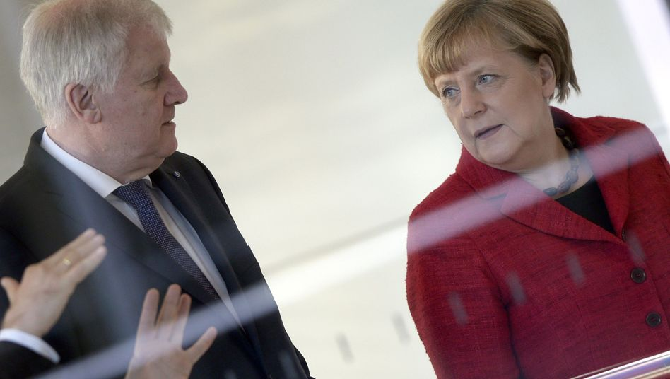 CSU-Chef Horst Seehofer, Kanzlerin Angela Merkel
