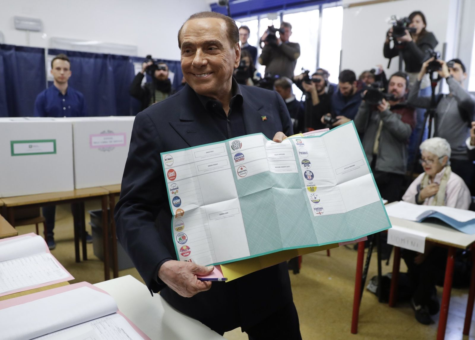 Italy Elections Berlusconi