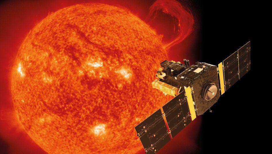 """Sonnensatellit """"Soho"""" (künstlerische Darstellung)"""