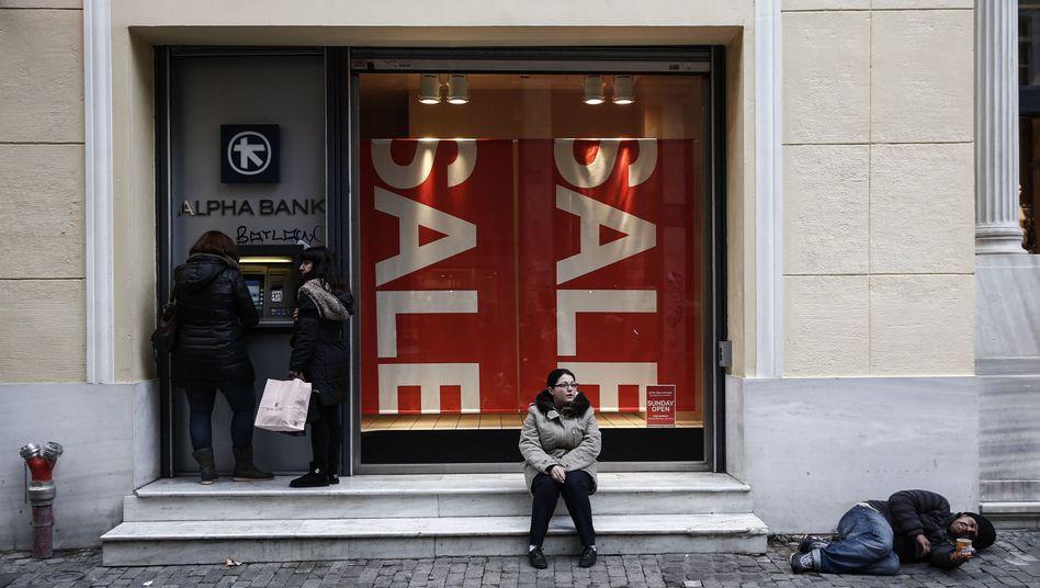 Bürger in Athens Innenstadt: Tsipras ist Regierungschef - und nun?