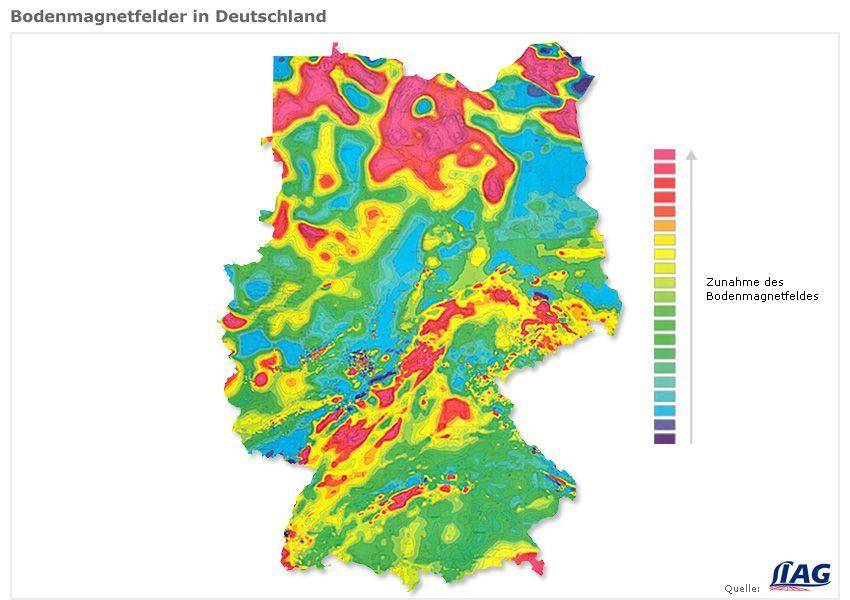 Grafik - Bodenmagnetfelder in Deutschland