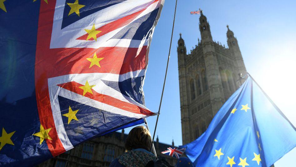 Brexit-Gegner in London