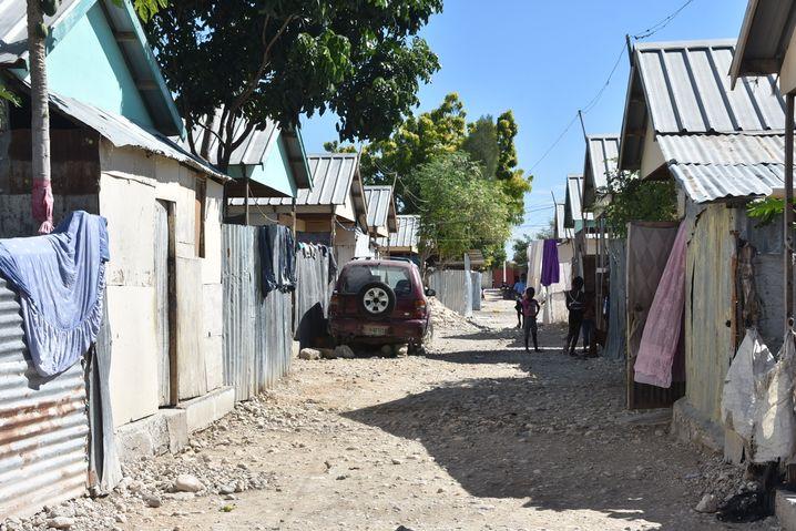 Auffanglager Canaan: Ansammlung von Hütten, Häusern und Verschlägen