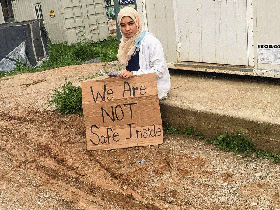 Protest aus Angst: Parwana Amiri, geflüchtet aus Afghanistan