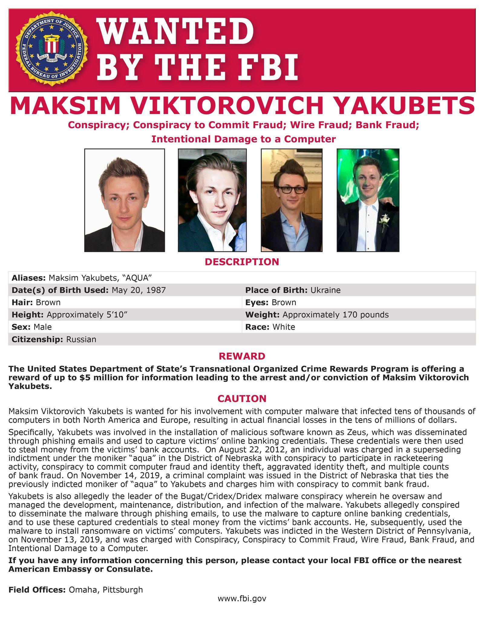 Maksim Yakubets / Evil Corp