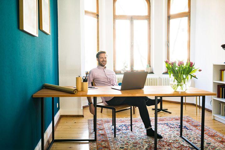 Luxus-Homeoffice: Hier wäre doch noch reichlich Platz für Corporate Design