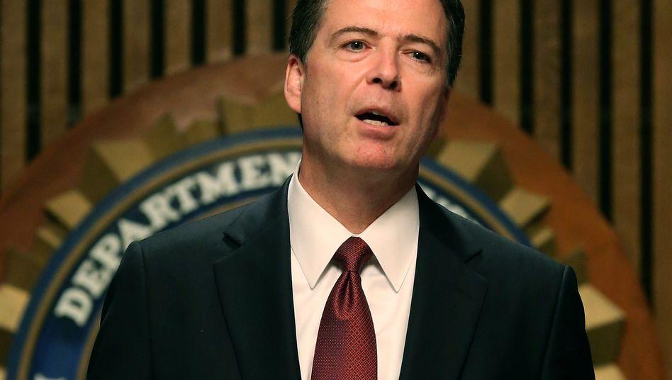 """FBI-Chef James Comey: """"Sehr besorgt"""" wegen der Verschlüsselungspläne"""