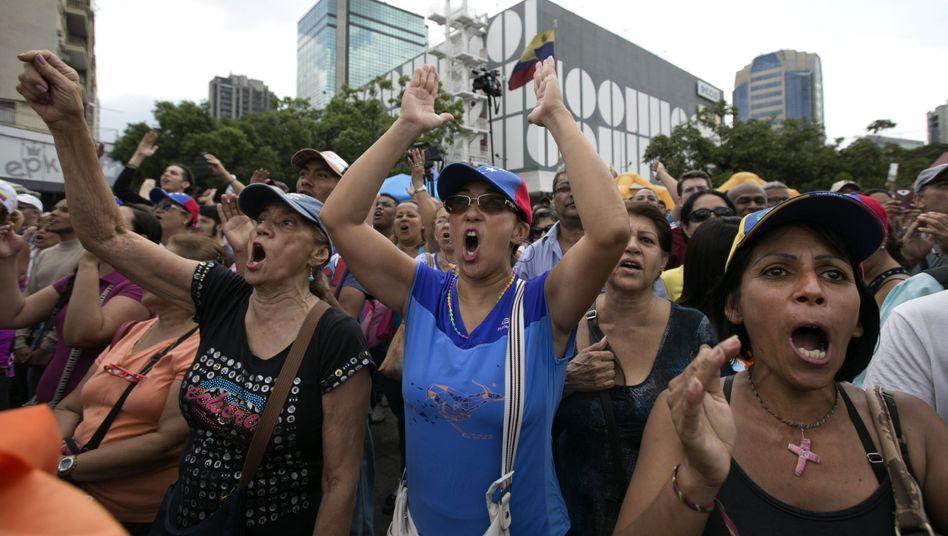 Demonstration gegen Maduro in Caracas