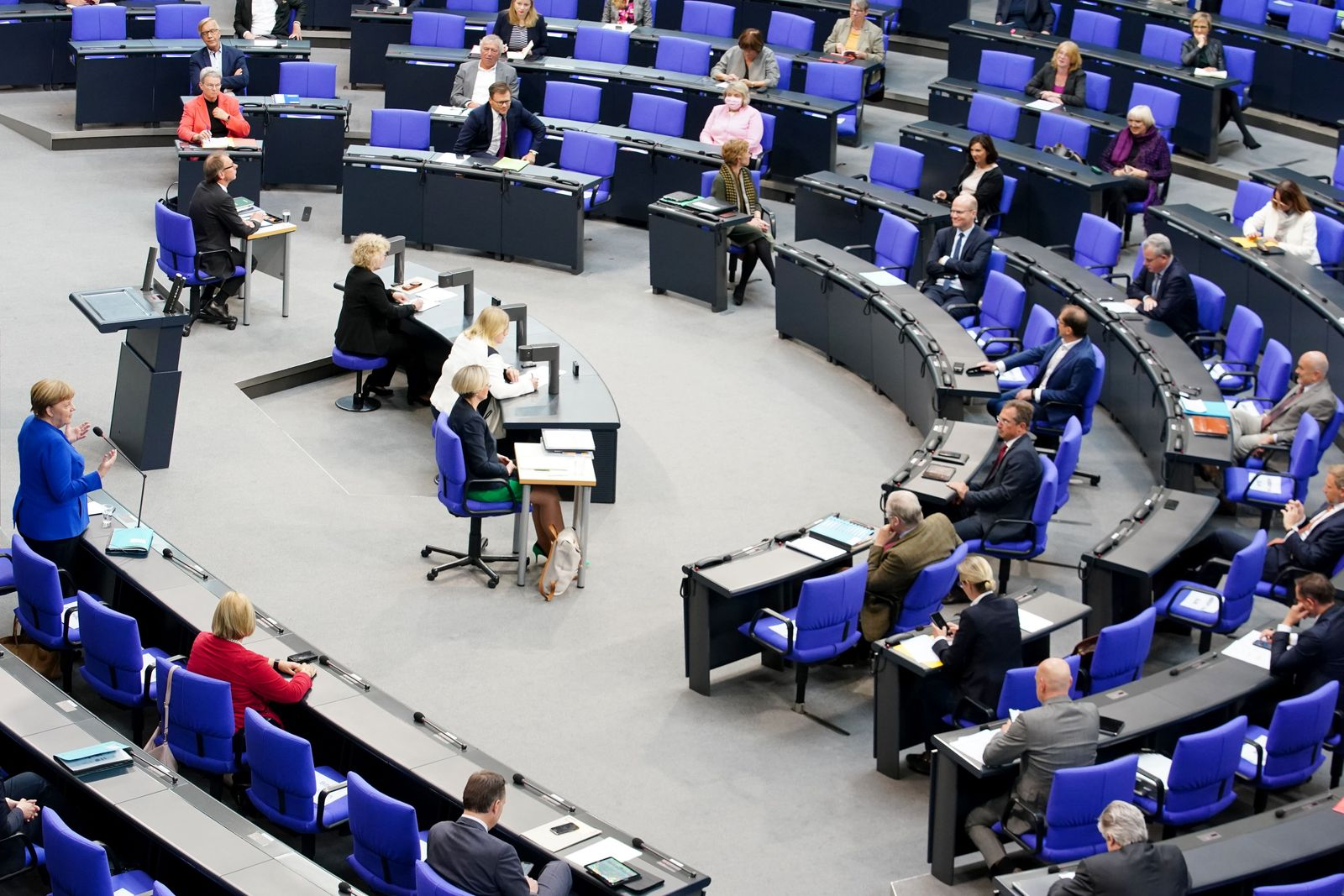 German Bundestag Q&A session with Chancellor Merkel, Berlin, Germany - 13 May 2020