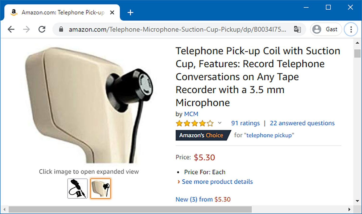 c't Amazon Screenshot