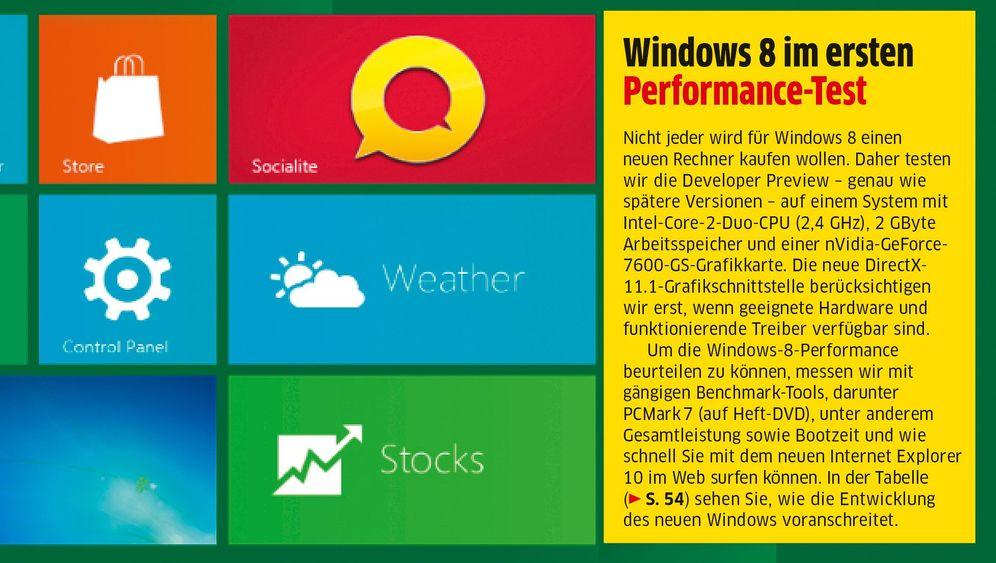 """Mehr Leistung: Windows 8 im """"Chip""""-Test"""