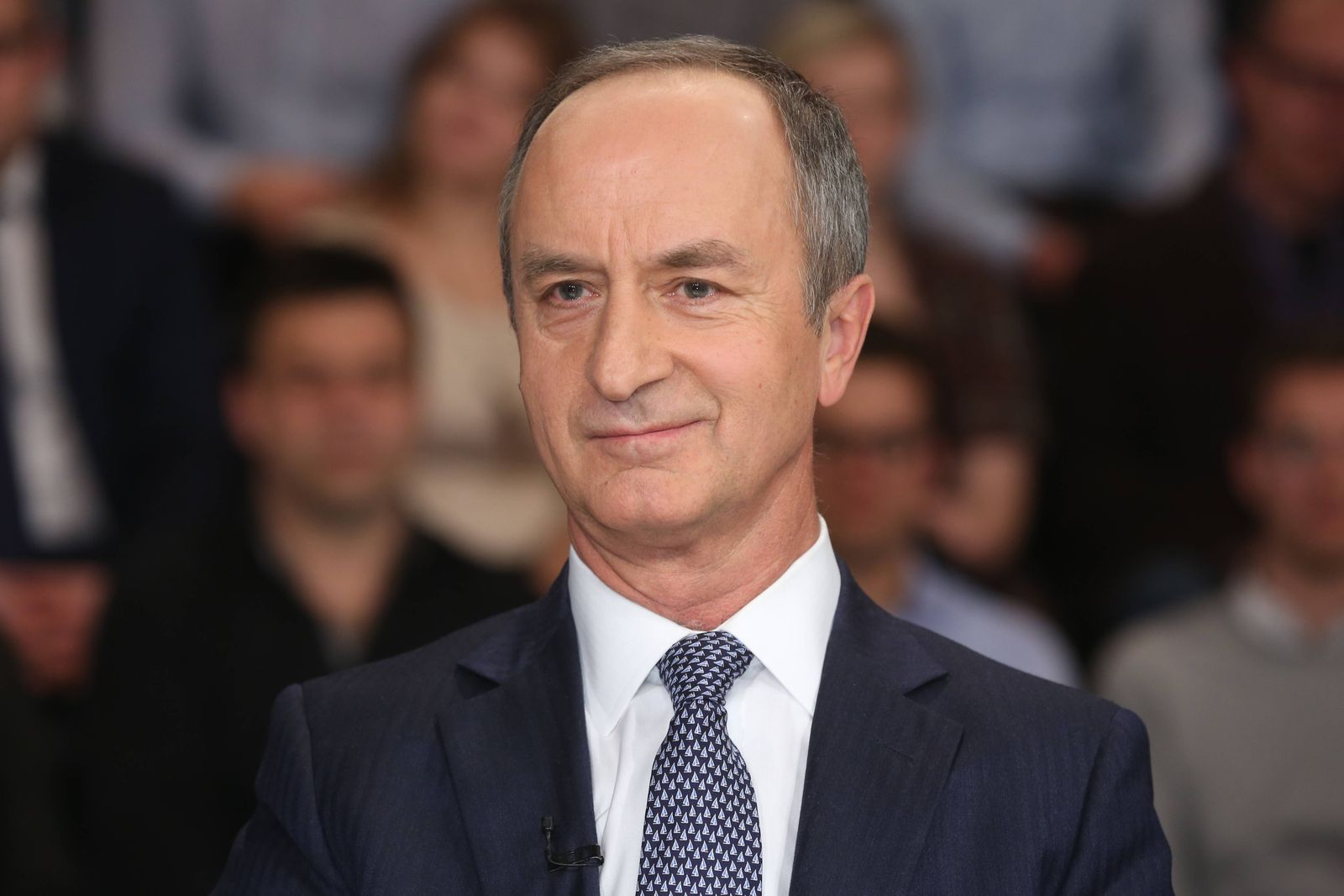 Janusz Reiter Polnischer Diplomat in der ZDF Talkshow maybrit illner am 20 11 2014 in Berlin Thema