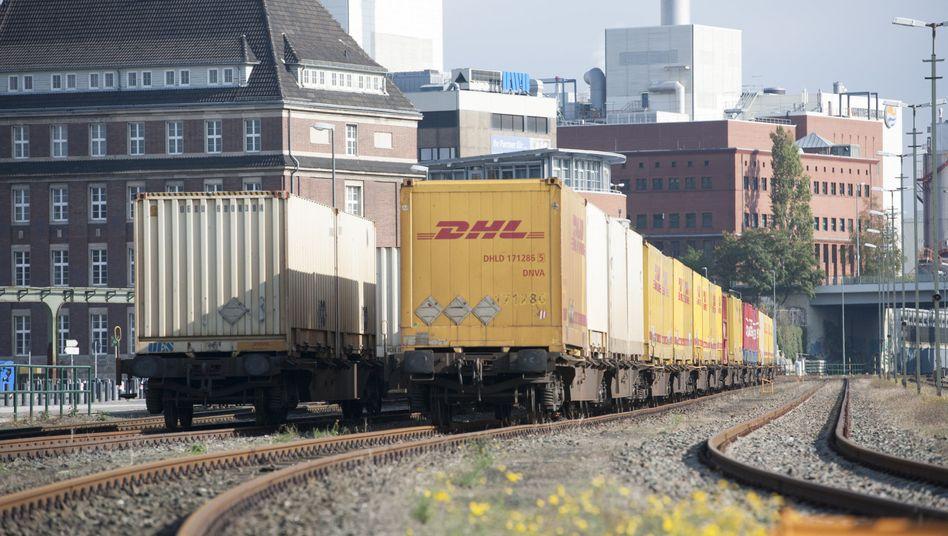 Güterwaggons der Deutschen Bahn