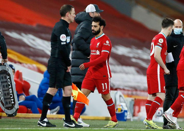 Mo Salah: Erzielte 2021 in der Premier League erst vier Treffer in elf Spielen