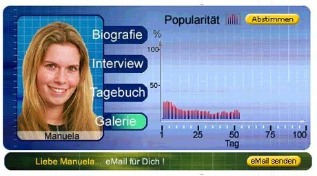 """""""Manu"""": Fliegt die """"ständig lächelnde Norddeutsche"""" (Originaltext Big-Brother-Homepage) am Sonntagabend?"""