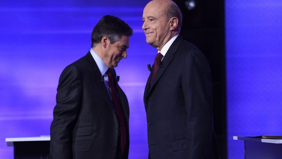 François Fillon (l.) und Alain Juppé