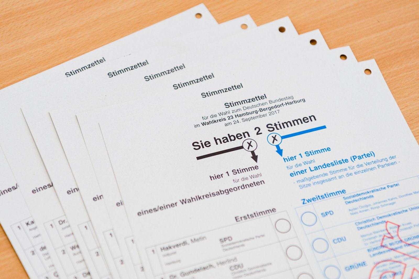 Bundestagswahl 2017/ stimmzettel