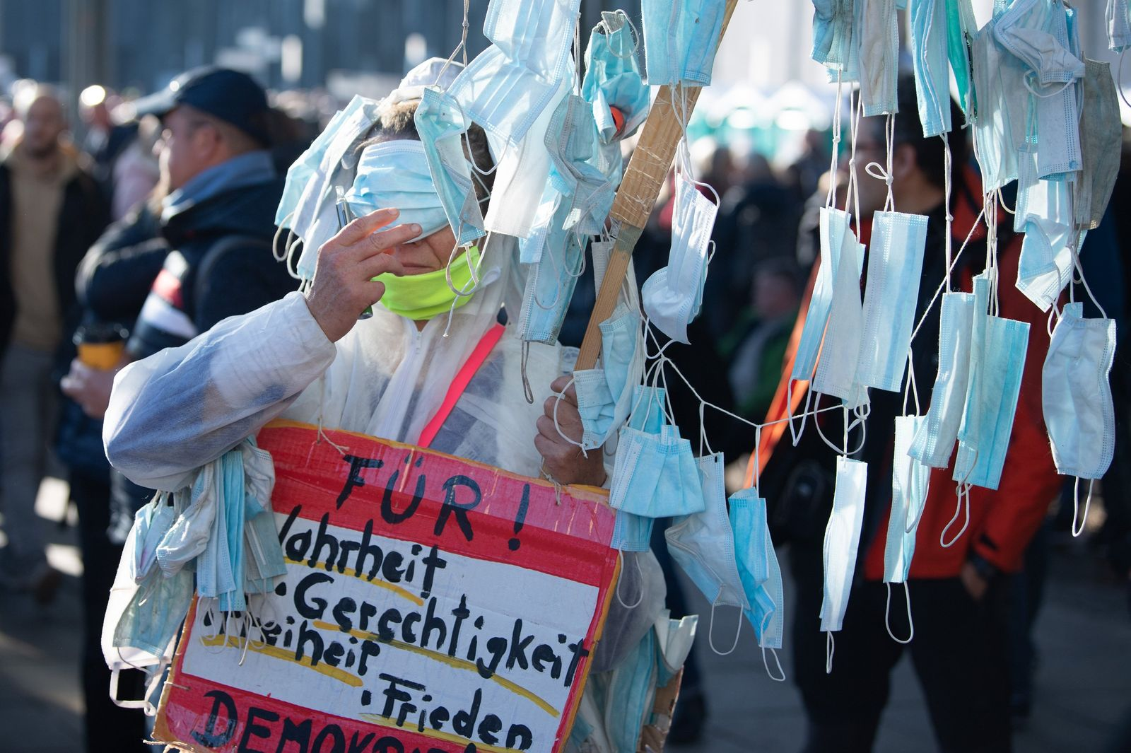 Demonstration «Querdenken» in Leipzig