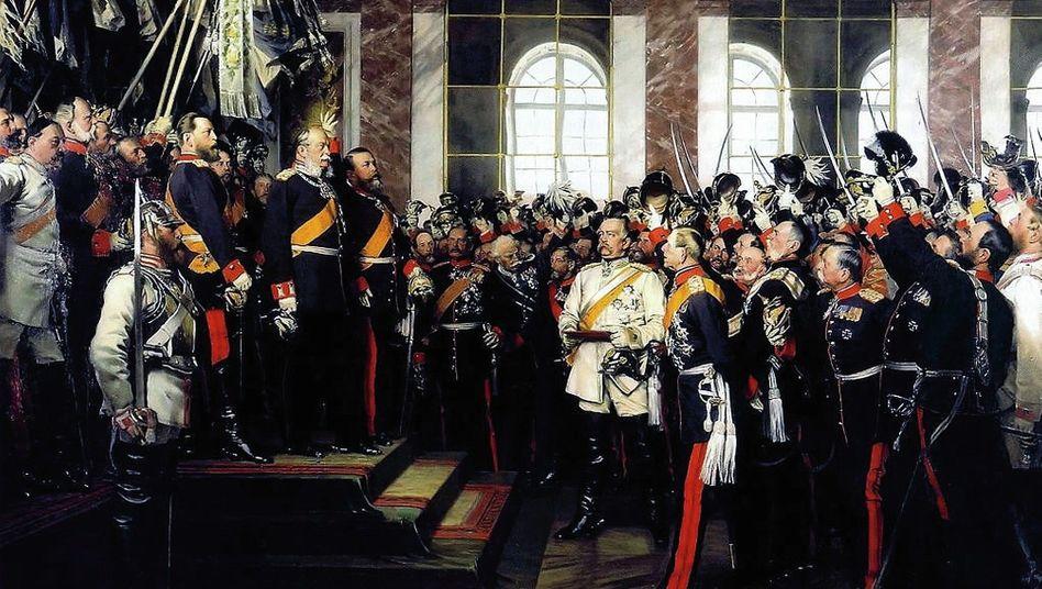 Kaiserproklamation in Versailles 1871 (Gemälde von Anton von Werner, 1885):Ein Reich von »ungeschickter Größe«