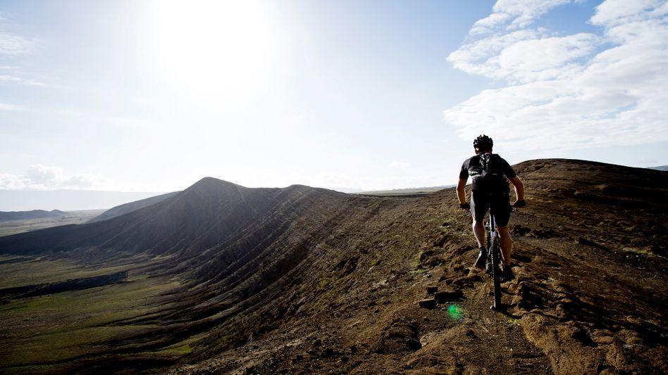 Fahrradfahrer auf Lanzarote