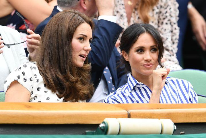 Schwägerinnen, keine Freundinnen - und das ist okay, oder nicht? Catherine und Meghan 2018 in Wimbledon
