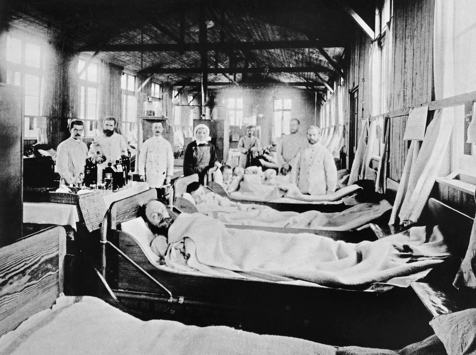 Quarantäne-Baracke in Hamburg-Eppendorf während der Cholera-Epidemie
