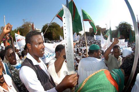 "Demonstranten in Khartum: ""Schande über Großbritannien"""