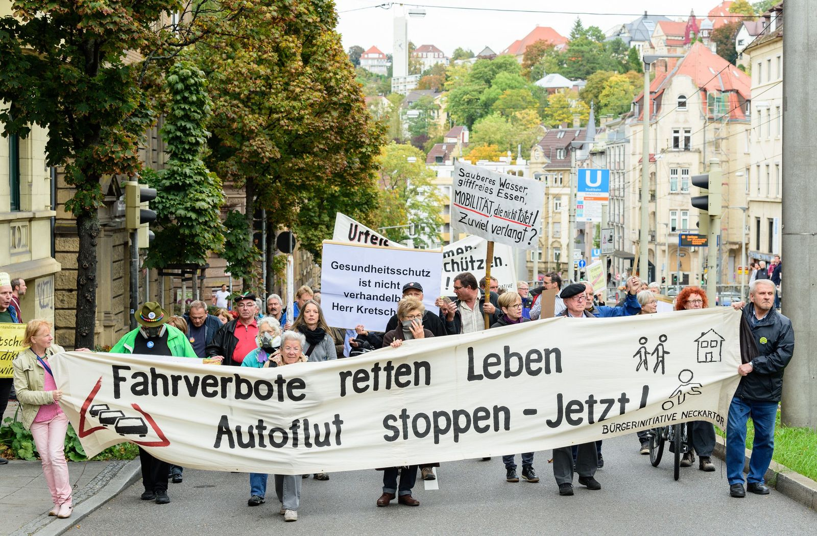 Abgasdemo in Stuttgart