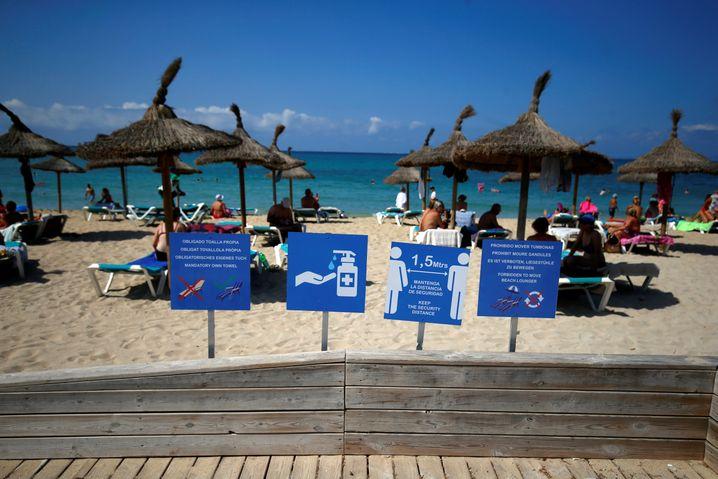 Strand auf Mallorca in Corona-Zeiten