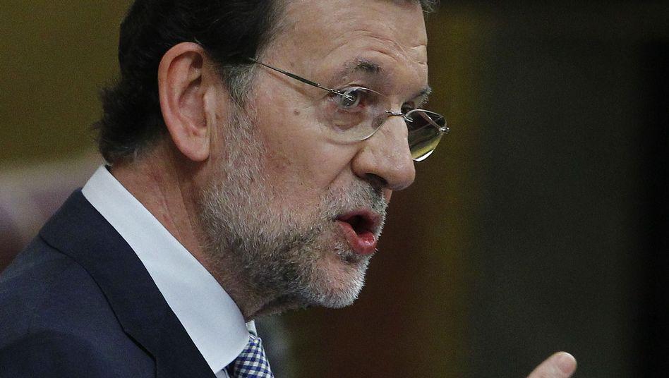 """Spaniens Premier Rajoy im Parlament: """"Es gibt keinen Raum für Phantasien"""""""