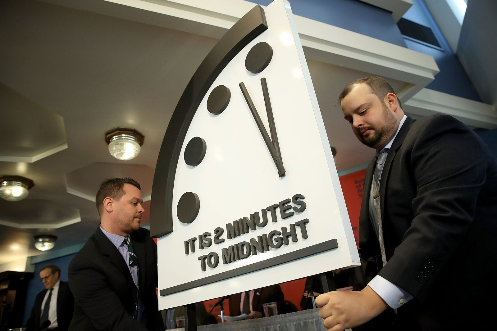 """US-BULLETIN-OF-THE-ATOMIC-SCIENTISTS-MOVES-THE-""""DOOMSDAY-CLOCK""""-"""