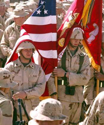 US-Soldaten stellen sich in Kuweit auf den Krieg ein