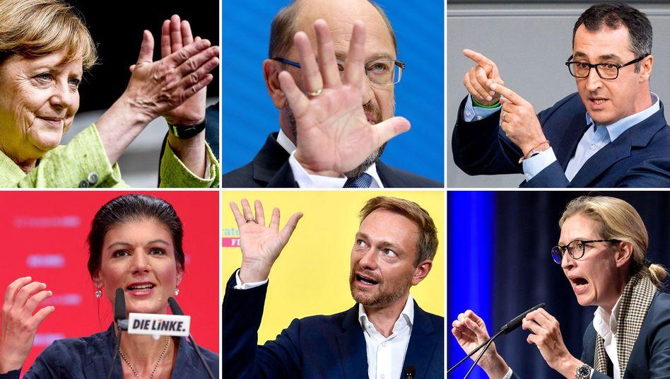 Spitzenkandidaten der Parteien