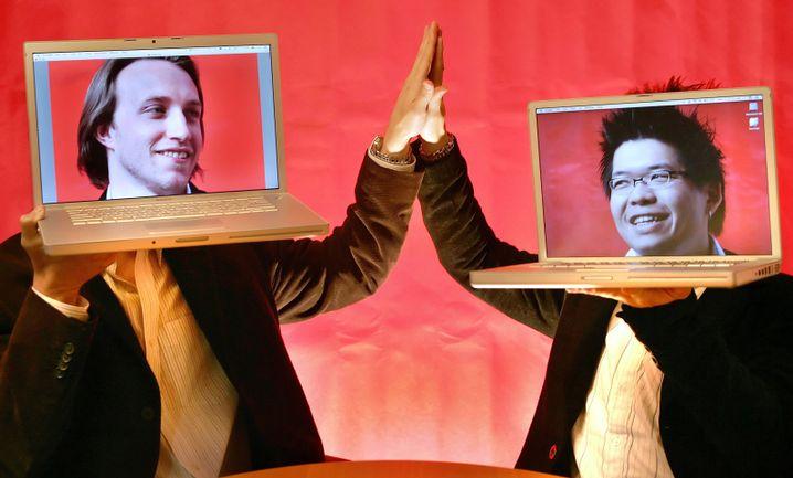 YouTube-Mitbegründer Chad Hurley und Steven Chen: Der dritte im Bunde, Jawed Karim, hatte sich verabschiedet, bevor es Millionen regnete