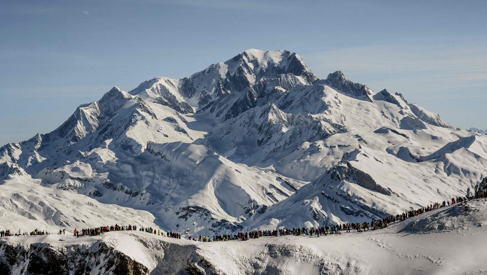 Mont Blanc, der höchste Berg der Alpen