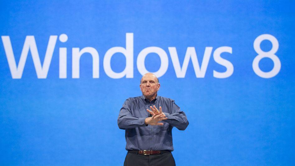 Microsoft-Chef Steve Ballmer: Nicht jeder in der Branche freut sich auf das neue Windows