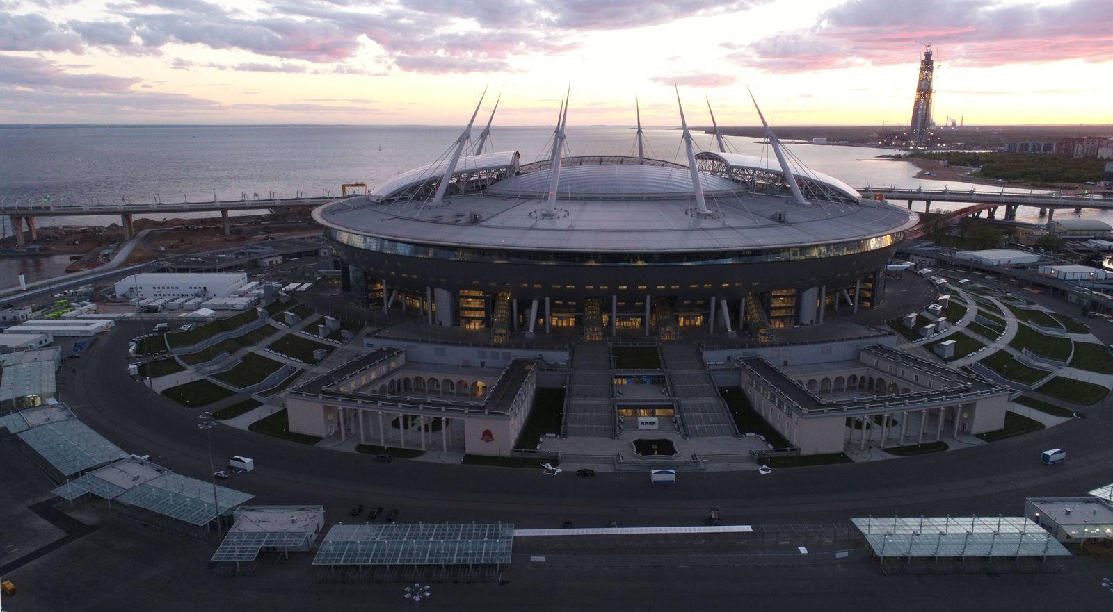 EINMALIGE VERWENDUNG Zenit Arena / St. Peters
