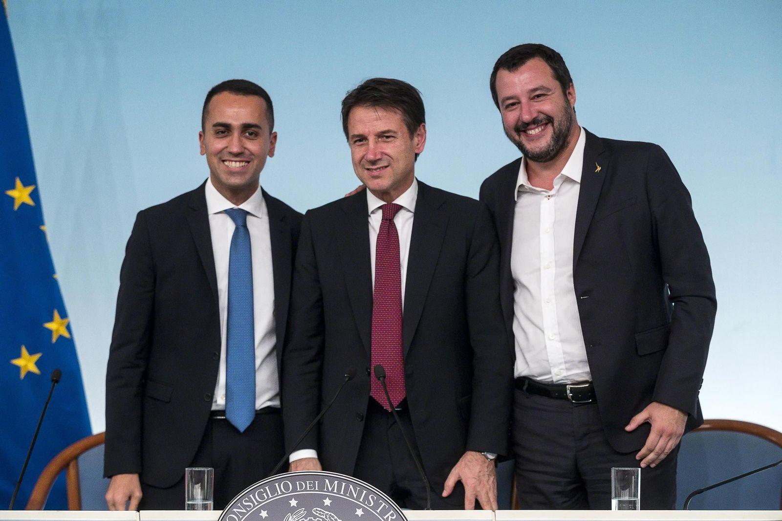 Luigi Di Maio/ Giuseppe Conte/ Matteo Salvini