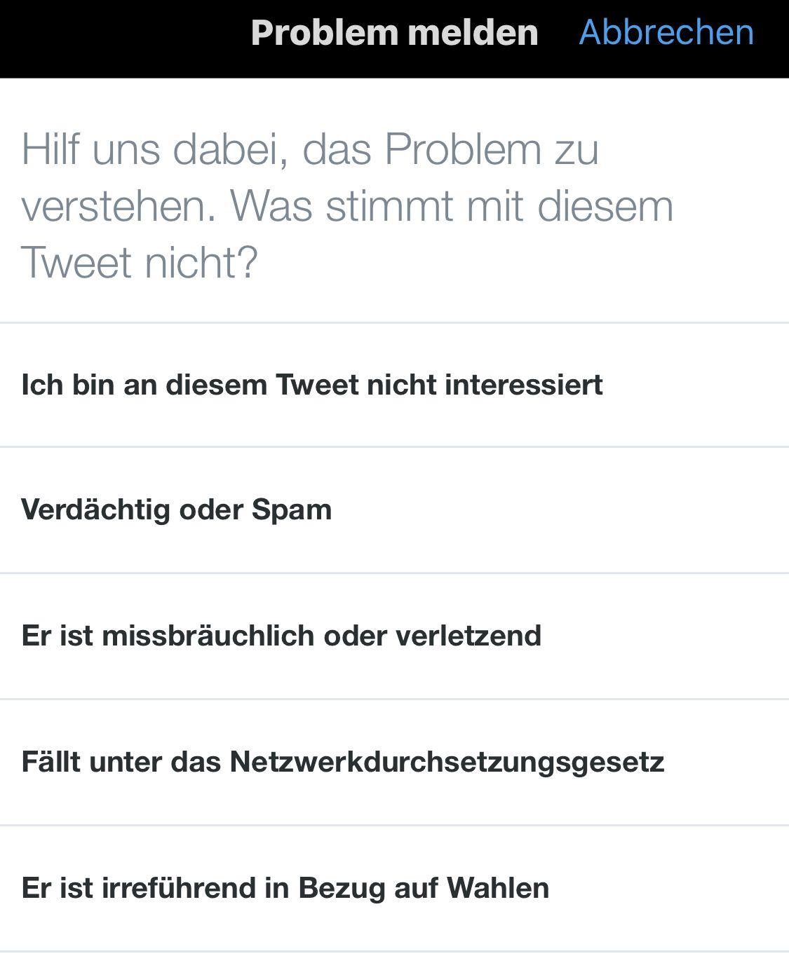 NUR ALS ZITAT Screenshot Twitter/ Europawahl