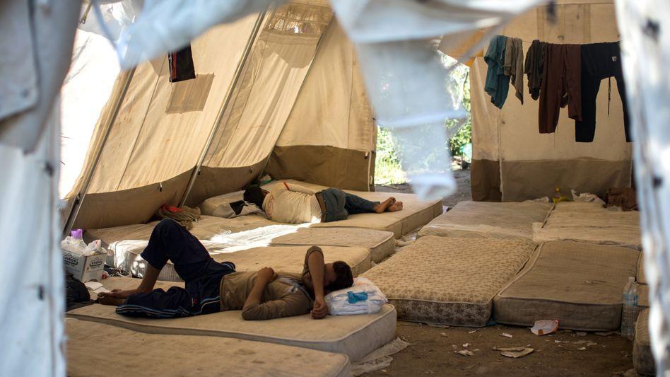 Flüchtlinge in Griechenland (Symbolbild): Wer soll wohin?