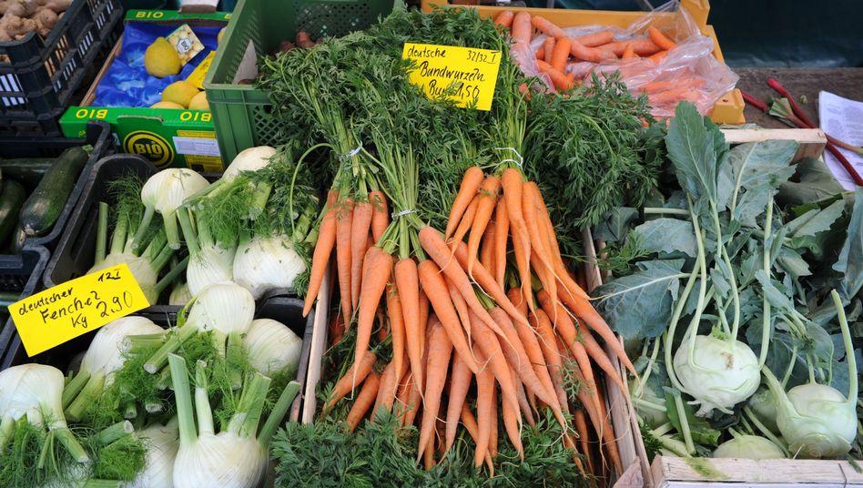 Gemüse auf dem Wochenmarkt: Waschen hilft nicht gegen Perchlorat
