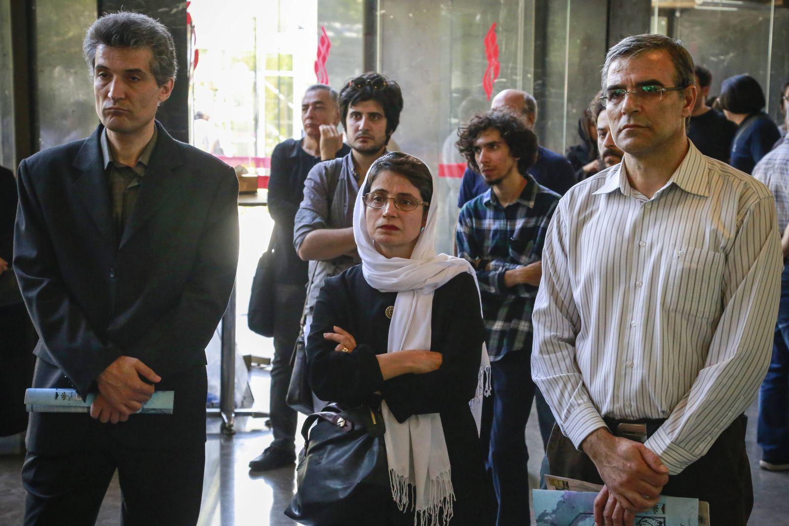 August 1 2017 Tehran Tehran IRAN Iranian Human rights lawyer Nasrin Sotoudeh C attends a