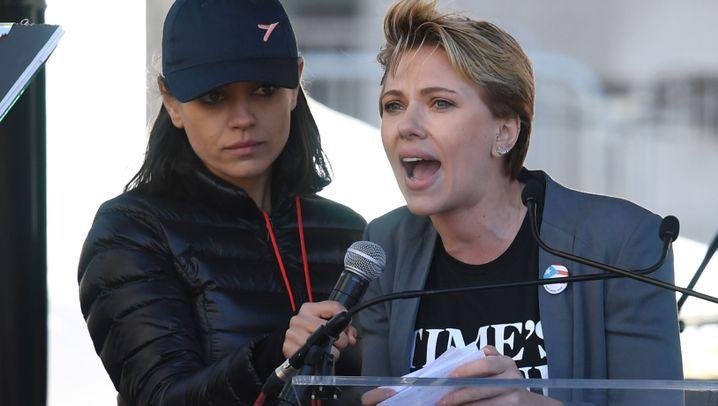 Stars beim Women's March: Ausgesprochen gegen Trump