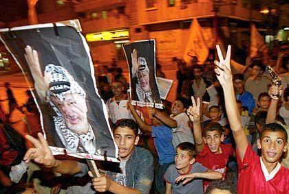 """Arafat-Anhänger in Gaza-Stadt: """"Ab heute hat jeder vor jeden Angst"""
