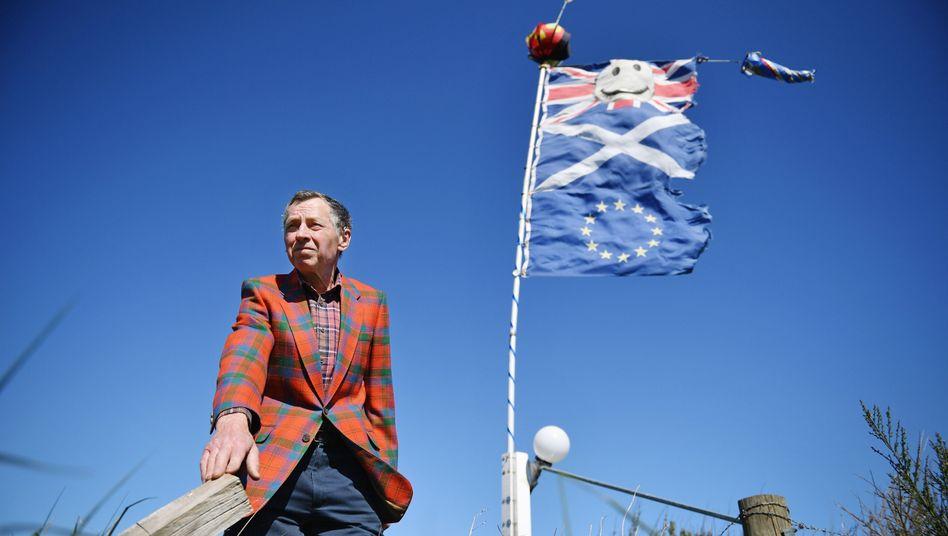 Proeuropäischer Protest in Laurencekirk, Schottland