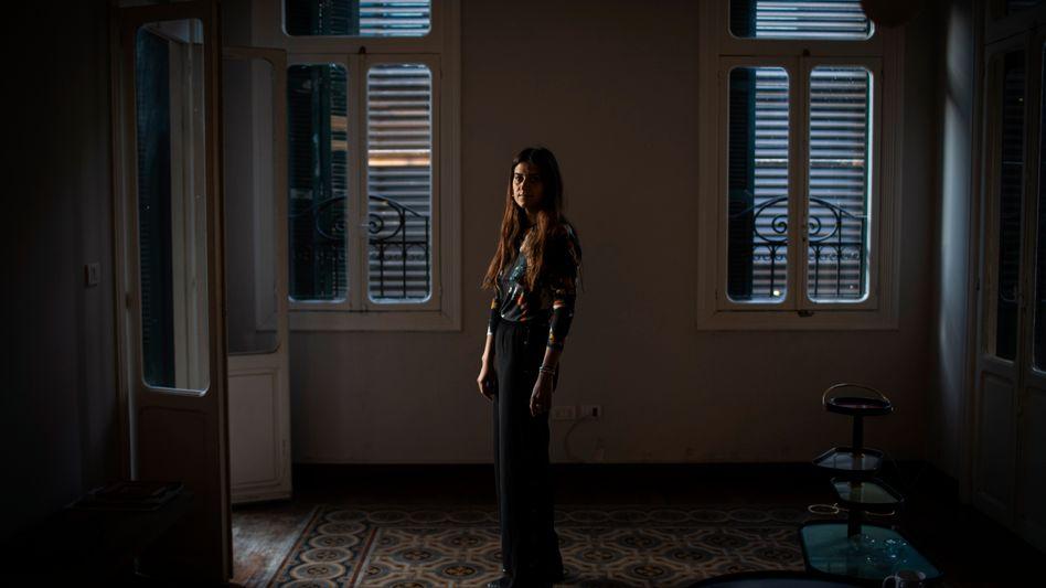 Melanie Dagher in ihrer neuen Wohnung