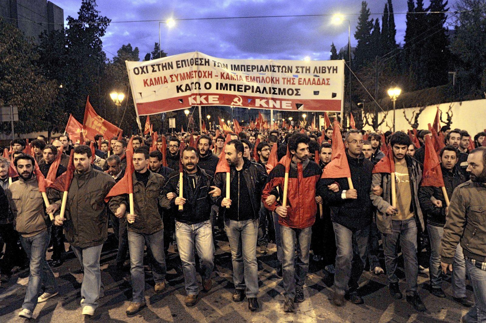 Libyen / Griechenland Demonstration
