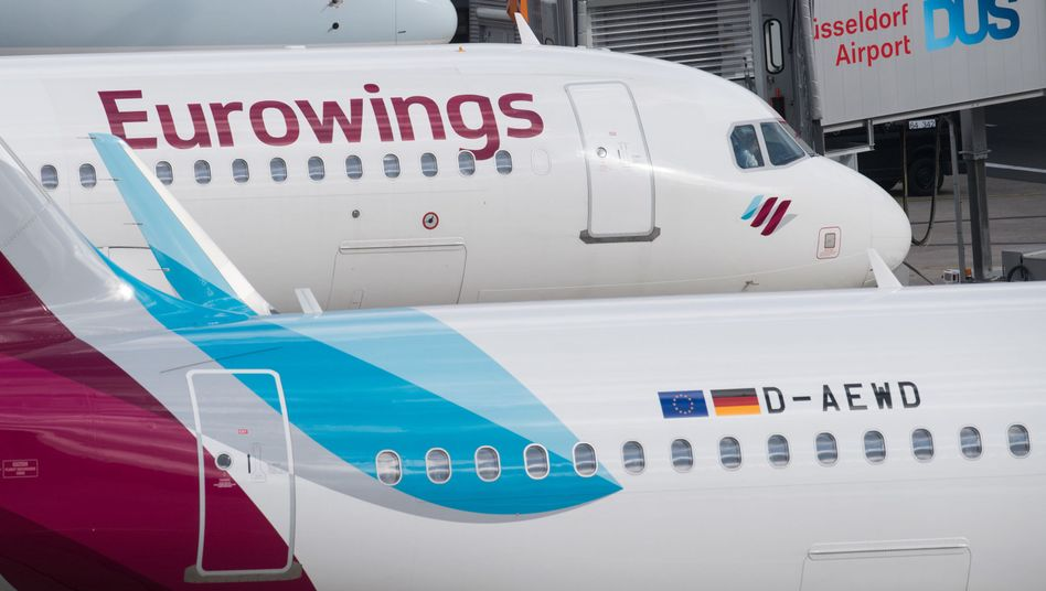 Flugzeuge der Lufthansa-Tochter Eurowings